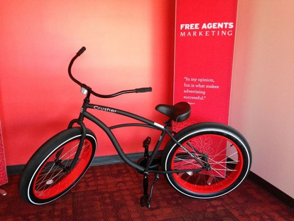 Free Agents Marketing bike