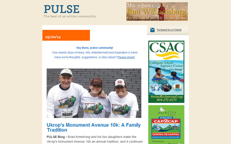 Sign up to receive PULSE Newsletter
