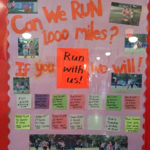 run club display board