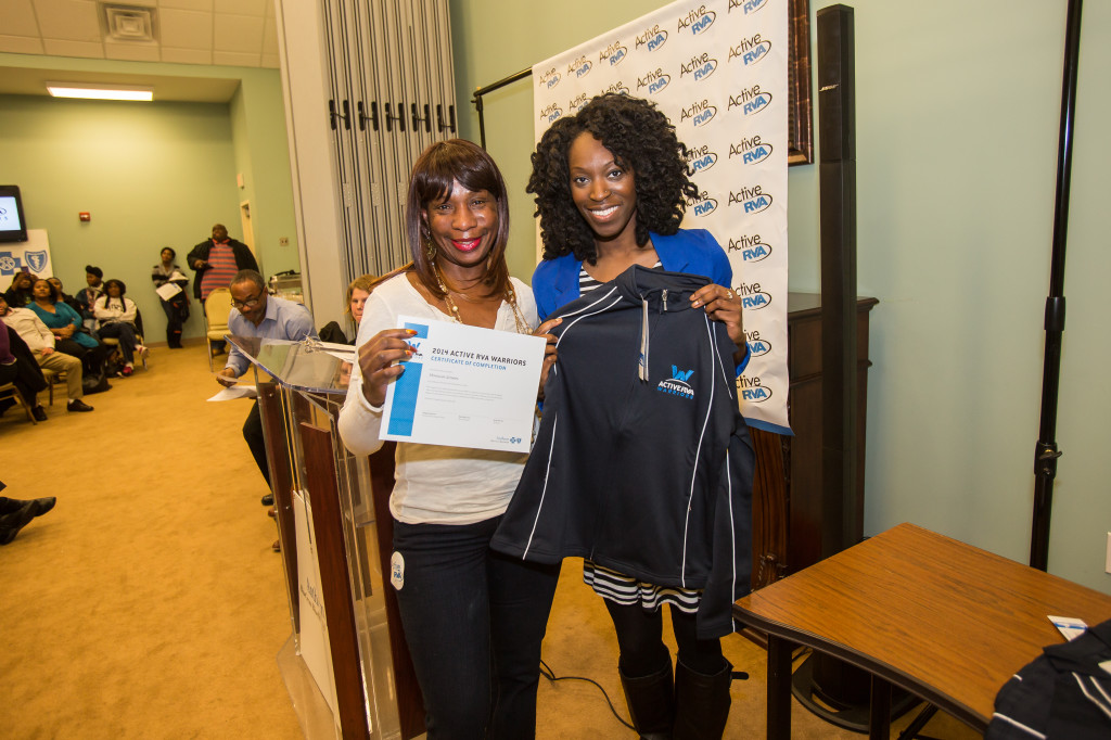 Graduating Warrior, Monica Green, with Abbey Johnson, Chronic Disease Prevention Specialist at the Richmond City Health District.