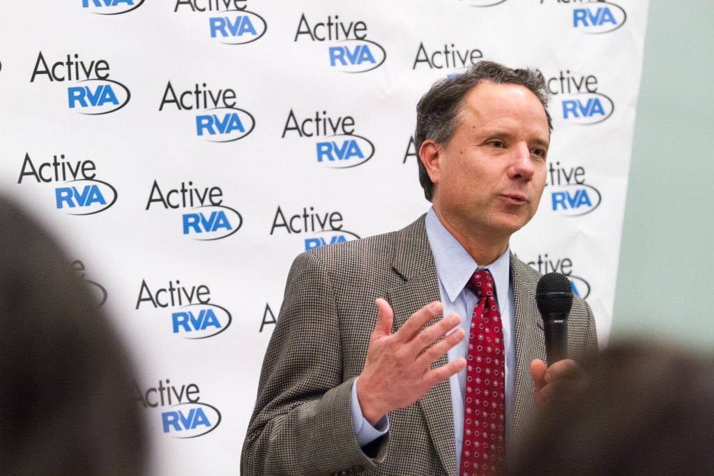 Burke King, President of Anthem Blue Cross Blue Shield of Virginia. Anthem is a founding partner and funder of the Active RVA Warriors.