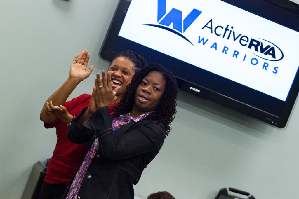 Standing ovations From Adrienne Quarles-Smith and Chirlyne Beauvais for their fellow Warriors.