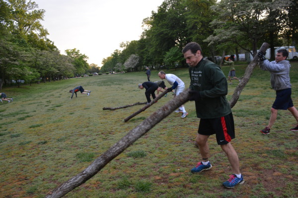 Weightlifting? Log tossing? It's a great workout, whatever you call it.